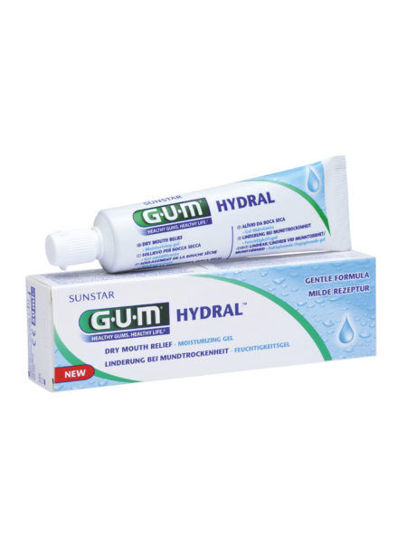 Thirsting for relief from dry mouth? Sunstar GUM Hydral Moisturising Gel helps hydrate, soothe and protect. Made especially for sensitive mouths, Hydral is easy to apply and does not contain alcohol or common irritants, providing long lasting lubrication and relief.