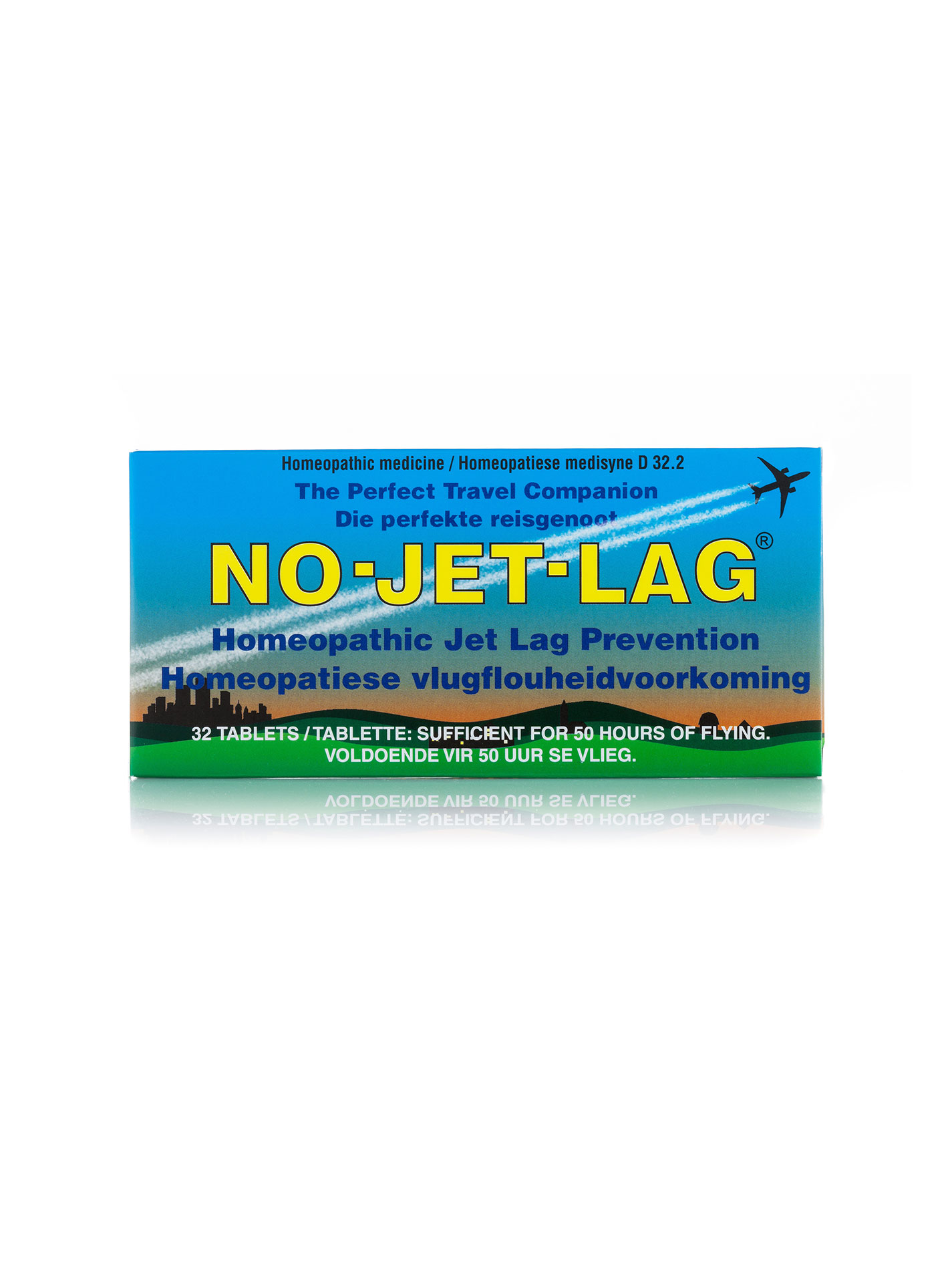 No-Jet-Lag is a unique, safe and effective homeopathic remedy that helps to alleviate travel fatigue and prevent jet lag. Surveys have found that up to 94% of long haul travellers, including flight attendants, are affected by symptoms such as tiredness, disorientation, and a lack of focus and motivation that can last several days. Simply chew one No-Jet-Lag at each take-off and landing and every two hours during the flight.