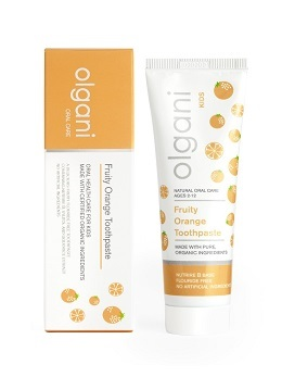 Olgani Fruity Orange Toothpaste for Kids is South Africa's first 100% natural, raw, edible, safe-to-swallow toothpaste for children ages 2-12.
