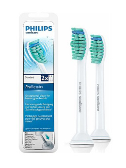 Philips Sonicare Replacement Brush Heads Standard 2 Pack bring you a better clean for better gum health. Made to fit with a range of Philips power toothbrush