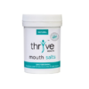 Thryve mouth salts helps neutralise acids in the throat and maintain a healthy pH balance, preventing unwanted bacteria from accumulating and causing infections.