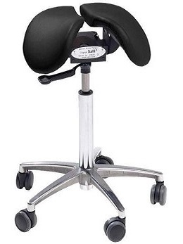 Salli Chin Saddle Chair with tilt (black)