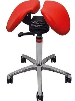 Salli Chin Saddle Chair with tilt (red)